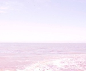 sea, pink, and beach image