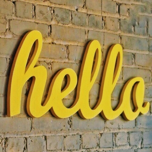 yellow and hello image
