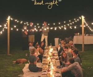 lights, night, and friends image