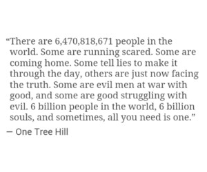 fight, one tree hill, and quote image