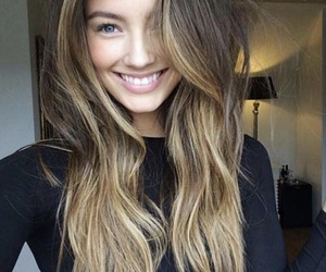 hair, smile, and blonde image