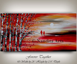 abstract art, Abstract Painting, and anniversary gift image