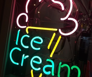 food, neon, and neon sign image