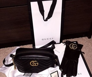 bag, clothes, and gucci image