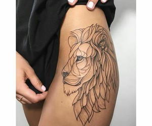 tattoo, lion, and aesthetic image
