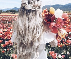 braid, bright, and hairstyle image