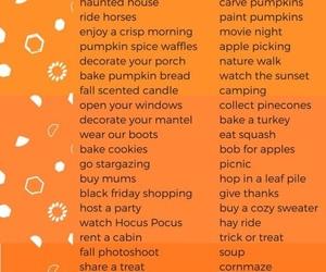 fall, tumblr, and bucket list image