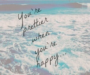 happy, pretty, and quote image