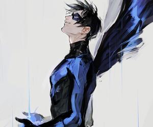 art, batman, and dick grayson image