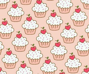 wallpaper, cupcake, and pattern image