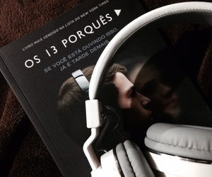 book, headphones, and jay asher image