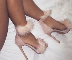 fluffy, heels, and Nude image