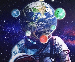 abstract, art, and astronaut image