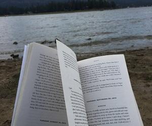 beach, books, and grunge image