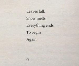 again, ends, and fall image