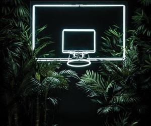 neon, Basketball, and green image