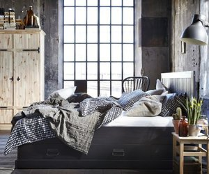 bedroom, home decor, and industrial image