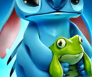 stitch, disney, and frog image