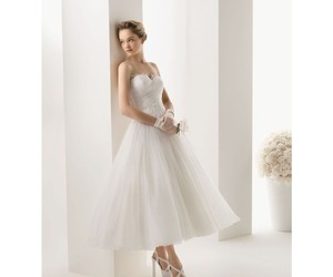 dress, tulle, and wedding image