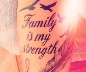 tattoo, family, and strength image