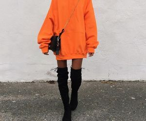 boots, fashion, and hoodies image