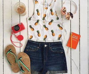 fashion, pineapple, and outfit image