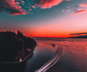 sunset, beautiful, and nature image