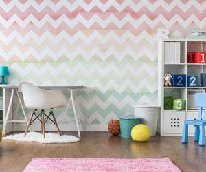 chevron, childrens room, and interior image