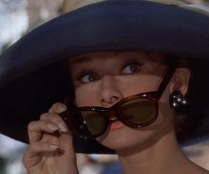 audrey hepburn, Breakfast at Tiffany's, and sunglasses image