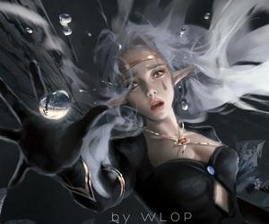 digital art, fantasy, and wlop image