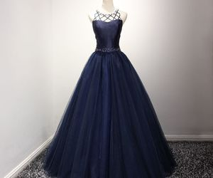 fashion, navy blue, and Prom image