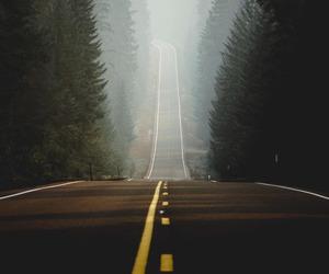 road, car trip, and road less traveled image
