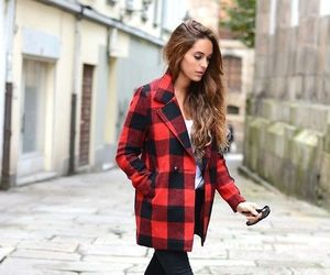 fall, red, and fashion image