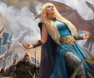 game of thrones, daenerys targaryen, and dragon image