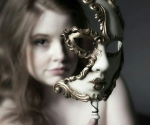 face, gold, and white image