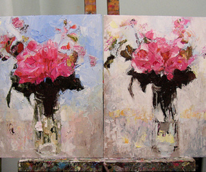 art, flowers, and picture image