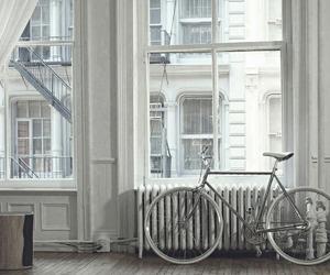 girl, bike, and white image