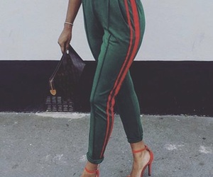 trackpants, greenred, and luxnoire image