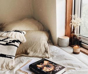 autumn, bedroom, and books image