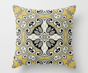 grey, pillow, and yellow image