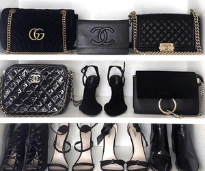 chanel, gucci, and heels image