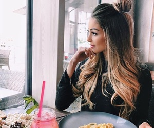 blonde, fashion, and food image