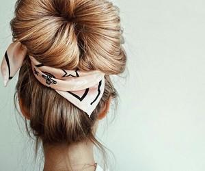 bandana, fashion, and hair image