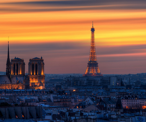 paris, sunset, and europe image