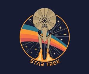 illustration, retro, and star trek image
