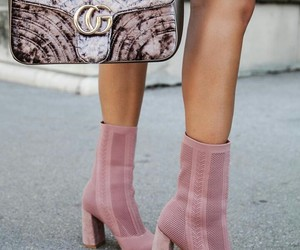 bag, boots, and comfy image