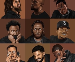 art, kendrick lamar, and chance the rapper image