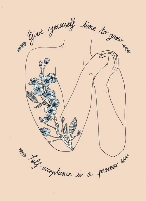 quotes, self love, and art image