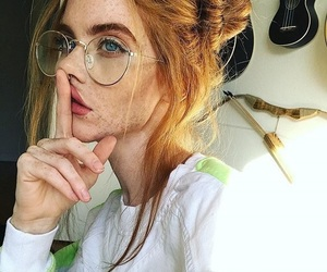 beautie, freckles, and ginger hair image