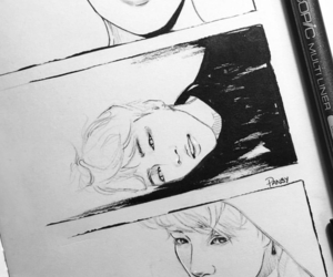 fanart, serendipity, and bts image